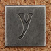 Pewter Lowercase Letter y