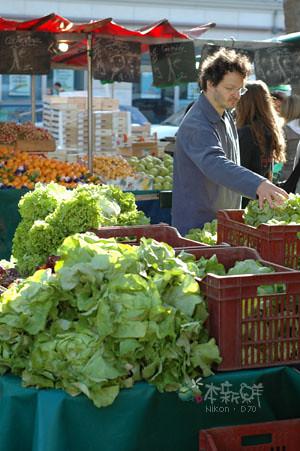 巴士底市集 蔬菜攤