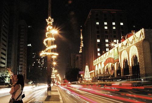 Natal 2007 - Na frente da FIESP