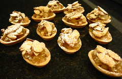 apple almond-nougat tarts