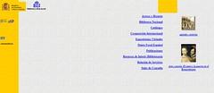 Web de la Biblioteca Nacional en 2002