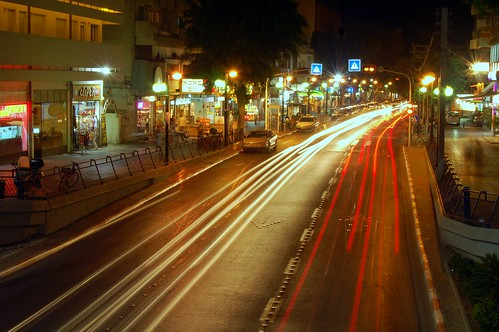 Dizengoff street by night
