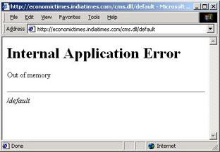 Economic Times HTTP error