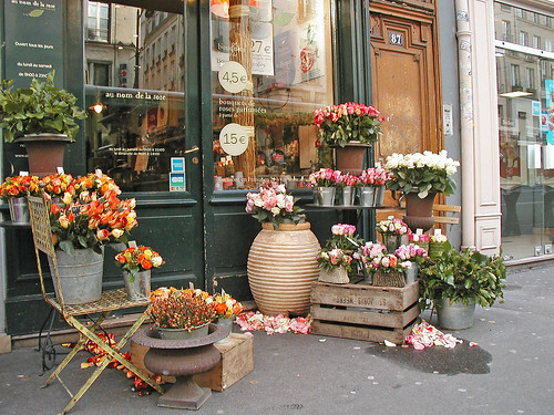 flower shop in Marais