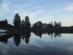 Reflection in tarn below Yellow Aster Butte
