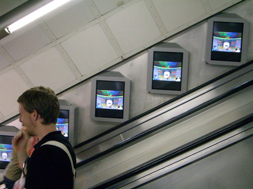Picture of LCD screens at Tottenham Court Road by James Cridland