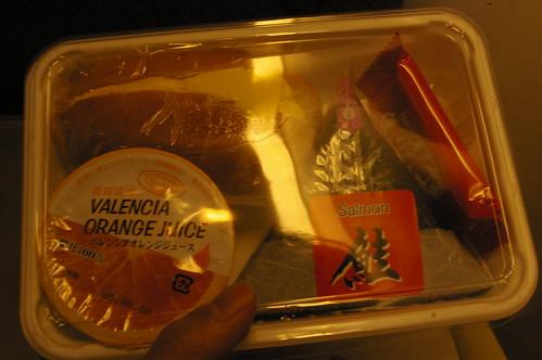 マレーシアまでの機内食