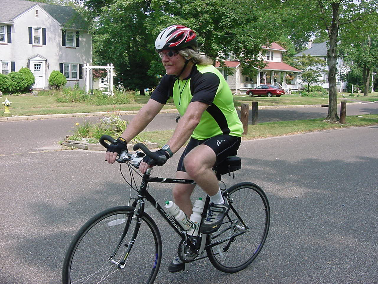 Photo of Tom cycling