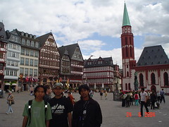 Ostzeile di Römerberg, Frankfurt, Germany