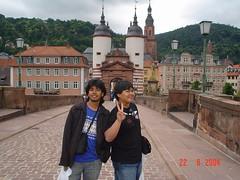 Kat Atas Jambatan Heidelberger's Alte Brücke, Heidelberg, Germany