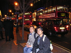 Malam di Oxford Street, London, UK