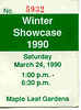 Winter Showcase - March 24, 1990