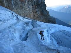 Hichen on the glacier