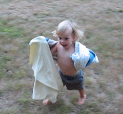 running with blankets