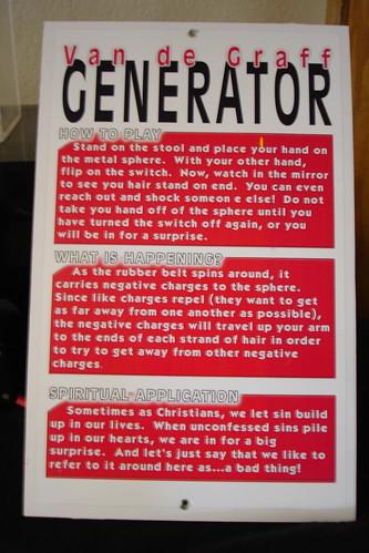 Generator Sign