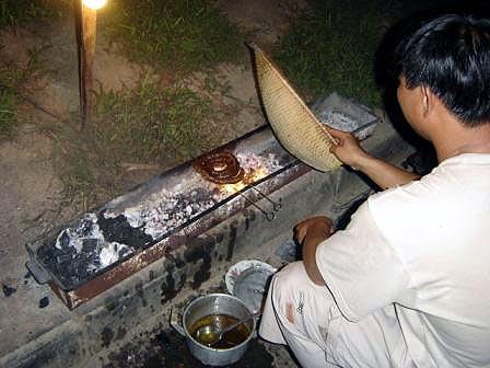 dog grill man