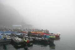 霧の野尻湖