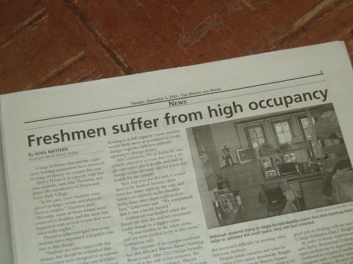 Freshmen suffer...