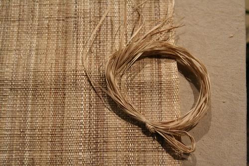 香蕉絲線與織好的布
