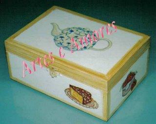 Caixa de Chá Média