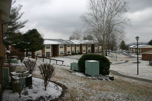 Snow - Allandale Falls Apartment Complex