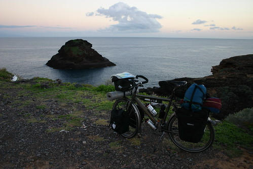 The island of Gran Canaria was just visible on the horizon