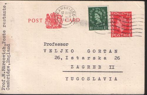 dopisnica Markovica Gortanu --- prednja strana