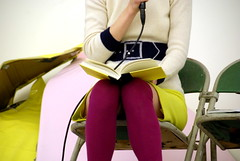 Miranda July reading at Modern Times photo by Steve Rhodes