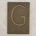 Brass Letter G