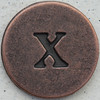 Copper Lowercase Letter x