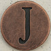 Copper Uppercase Letter J
