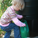 Helping Uncle Nigel to water his garden<br/>14 Apr 2007