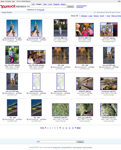 Yahoo Image Search: SML: Page 10 / 2007-12-23 / SML Screenshots (by See-ming Lee 李思明 SML)