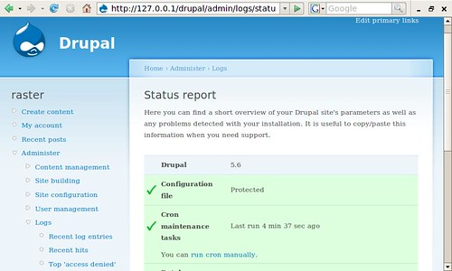 Drupal on the Asus Eee PC (by raster)