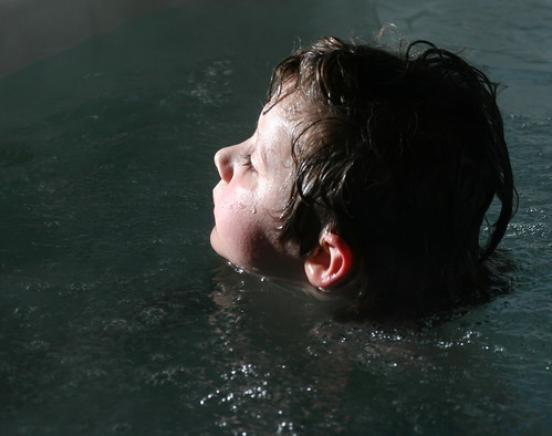 finn in the tub