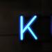 K glowing