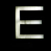 E glowing