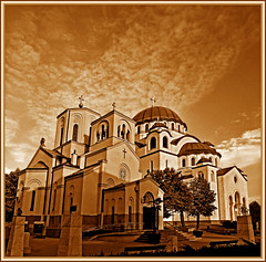 The old and the new churches - St. Sava photo by Katarina 2353
