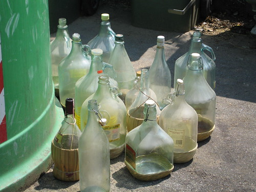 recycling glass bottles