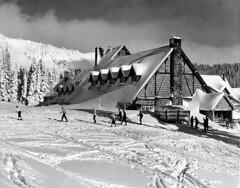 Paradise Inn during winter, Mount Rainier National Park