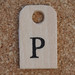 Wooden Tag P