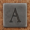 Pewter Uppercase Letter A