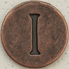 Copper Uppercase Letter I