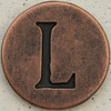 Copper Uppercase Letter L