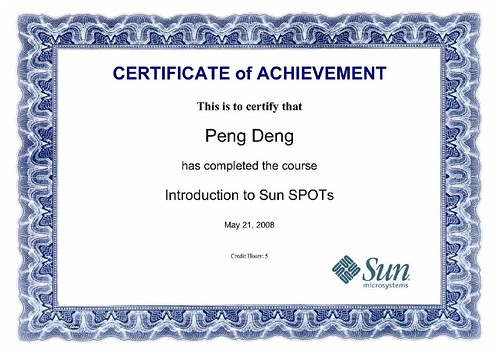 IntroductionToSunSPOTCertificate