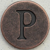 Copper Uppercase Letter P