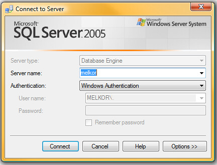 SQLServerConnectWindow