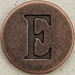 Copper Uppercase Letter E
