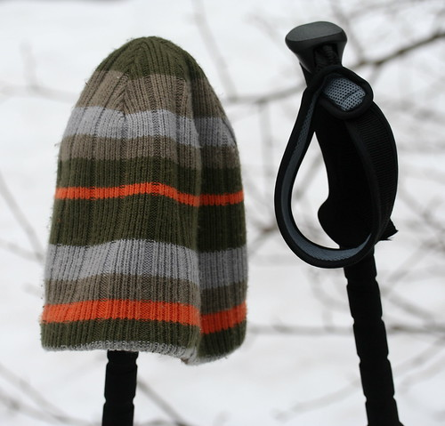 hat and poles