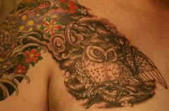 Owl tattoo photo by 10%bigger